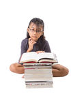 Young Asian Girl With Books IV Royalty Free Stock Images