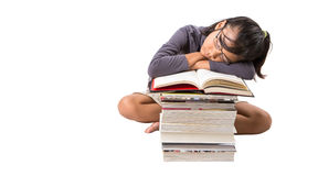 Young Asian Girl With Books VI Stock Photos