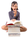 Young Asian Girl With Books VII Stock Images