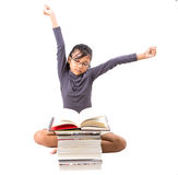 Young Asian Girl With Books VIII Royalty Free Stock Photo