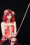 Young asian girl dressed in cosplay costume Royalty Free Stock Photo