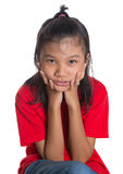 Young Asian Girl Face Expression III Stock Photo
