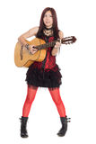 Young Asian girl with guitar Royalty Free Stock Images