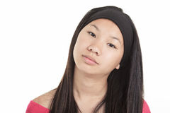 Young asian girl , isolated on white background Royalty Free Stock Images