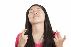 Young asian girl , isolated on white background Royalty Free Stock Photo