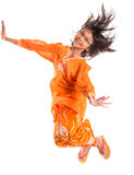 Young Asian Girl Jumping Happily III Royalty Free Stock Photos