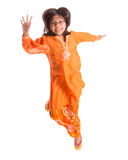 Young Asian Girl Jumping Happily X Royalty Free Stock Images