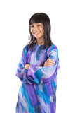 Young Asian Girl In Malay Traditional Dress II Royalty Free Stock Image