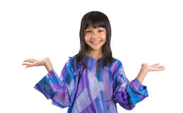 Young Asian Girl In Malay Traditional Dress IV Stock Photo