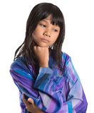 Young Asian Girl In Malay Traditional Dress VI Royalty Free Stock Photo