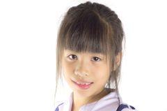 Young Asian girl missing tooth Stock Images