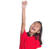 Young Asian Girl Raising Hands III Stock Images