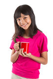 Young Asian Girl With Red Mug III Royalty Free Stock Image