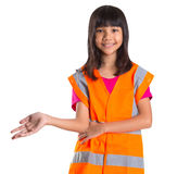 Young Asian Girl With Safety Vest I Stock Photo