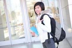 Young Asian Girl at School Royalty Free Stock Images