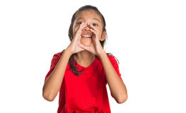 Young Asian Girl Shouting IV Royalty Free Stock Images