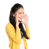 Young Asian girl shouting Stock Images