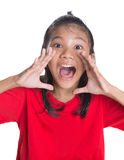 Young Asian Girl Shouting VI Stock Images
