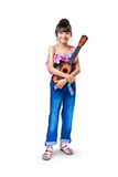 Young asian girl with ukulele Stock Photos
