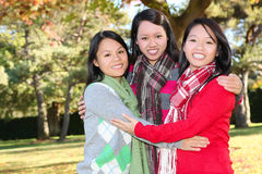 Young Asian Girls in Park Stock Image