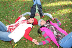 Young Asian Girls in Park Royalty Free Stock Images