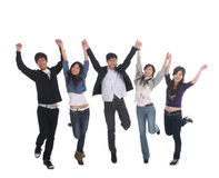 Young Asian group jumping Royalty Free Stock Image