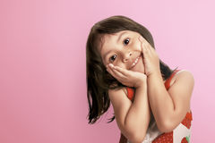 Young asian kid smiling with happy expression Royalty Free Stock Photos