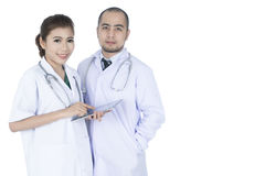 Young Asian male and female doctors Royalty Free Stock Photography