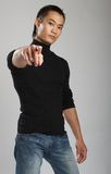 Young asian male model stock photos