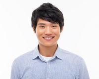 Young Asian man close up shot. Royalty Free Stock Photo
