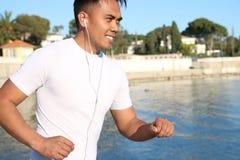 Young asian man running Stock Photo