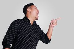 Young Asian Man Screaming Stock Images