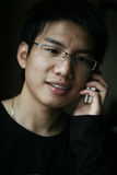 Young asian men on calling. A young asian men on calling Stock Images