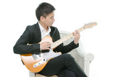 Young Asian musician Stock Photos