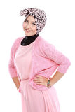 Young asian muslim woman in head scarf smile Royalty Free Stock Photo