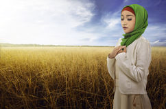 Young asian muslim woman with hijab style Stock Photography