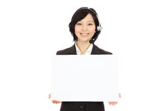 Young Asian operators Royalty Free Stock Photo