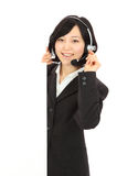 Young Asian operators Royalty Free Stock Image