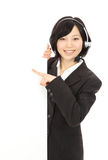 Young Asian operators Stock Photo