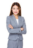 Young Asian pretty business woman Stock Photos