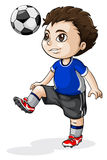 A young Asian soccer player. Illustration of a young Asian soccer player on a white background Royalty Free Stock Photo