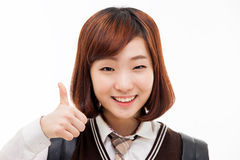 Young pretty Asian student Royalty Free Stock Image