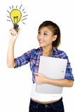 Young asian student drawing. Stock Images