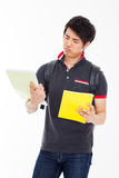Young Asian student having a stress Royalty Free Stock Photography