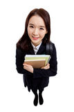 Young Asian student isolated on white background. Royalty Free Stock Photo