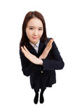 Young Asian student shwoing cancel sign Royalty Free Stock Photos