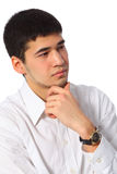 Young asian thoughtful businessman Stock Images