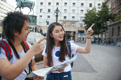 Young Asian Tourists Stock Photo