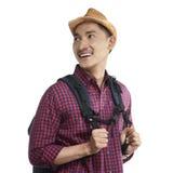 Young Asian Traveler Smile Royalty Free Stock Photos