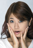 Young Asian Woman. Face expression Stock Image